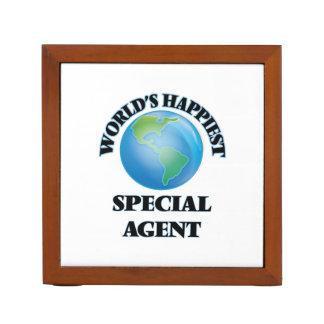 El agente especial más feliz del mundo organizador de escritorio