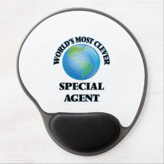 El agente especial más listo del mundo alfombrilla de ratón con gel