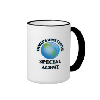 El agente especial más listo del mundo taza de dos colores