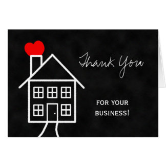 El agente inmobiliario le agradece tarjeta de nota