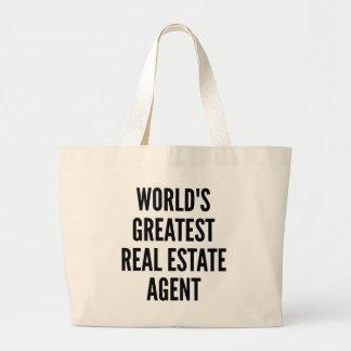 El agente inmobiliario más grande de los mundos bolsa tela grande