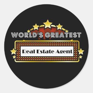 El agente inmobiliario más grande del mundo pegatina redonda