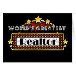 El agente inmobiliario más grande del mundo tarjeta de felicitación