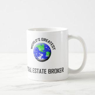El agente inmobiliario más grande del mundo taza básica blanca