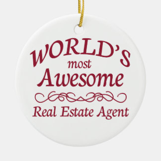 El agente inmobiliario más impresionante del mundo adorno redondo de cerámica