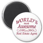 El agente inmobiliario más impresionante del mundo imán redondo 5 cm