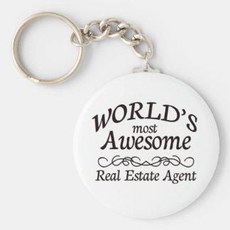 El agente inmobiliario más impresionante del mundo llavero redondo tipo pin