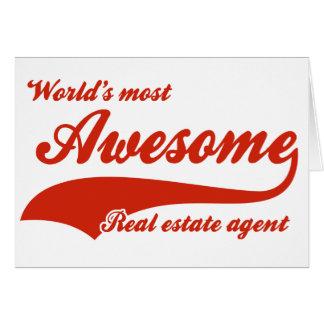 El agente inmobiliario más impresionante del mundo tarjeta de felicitación