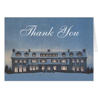 El agente inmobiliario o el agente de hipoteca le tarjeta de felicitación