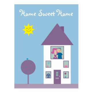 El agente inmobiliario o nosotros caseros dulces c postal