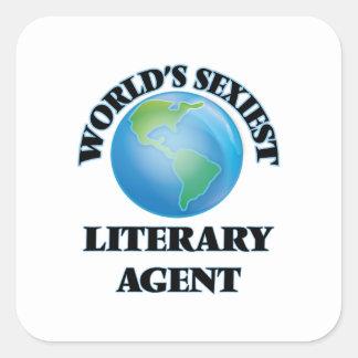 El agente literario más atractivo del mundo pegatina cuadrada
