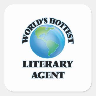 El agente literario más caliente del mundo pegatina cuadrada