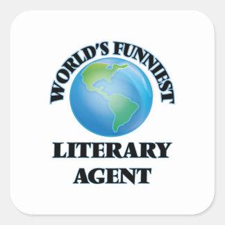 El agente literario más divertido del mundo pegatina cuadrada