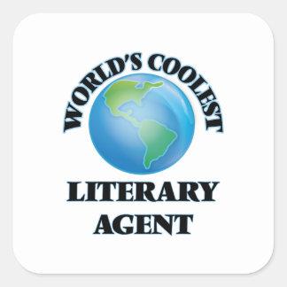 El agente literario más fresco del mundo pegatina cuadrada