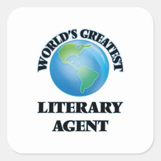 El agente literario más grande del mundo calcomanías cuadradass