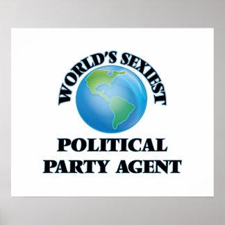 El agente más atractivo del fiesta político del póster