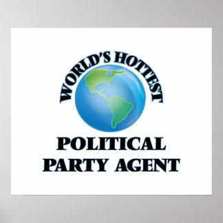 El agente más caliente del fiesta político del póster