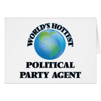 El agente más caliente del fiesta político del tarjetón