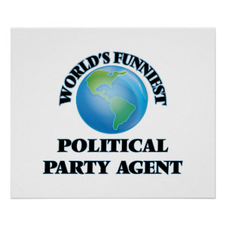 El agente más divertido del fiesta político del póster