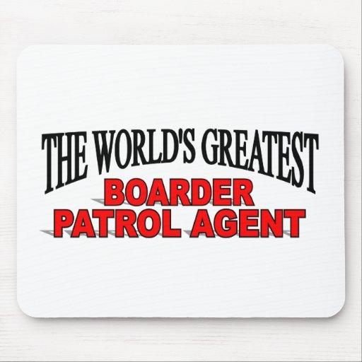 El agente más grande de la patrulla del huésped de tapete de raton