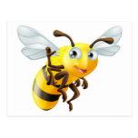 El agitar de la abeja del dibujo animado postales