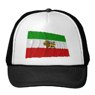 El agitar de la bandera de Irán (1925-1979) Gorras De Camionero