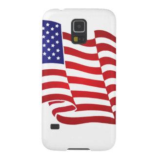 El agitar de la bandera de los E.E.U.U. Carcasas Para Galaxy S5