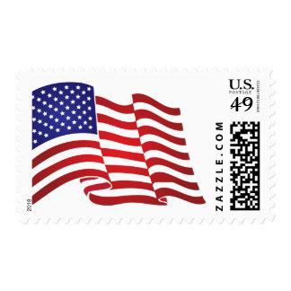 El agitar de la bandera de los E.E.U.U. Franqueo