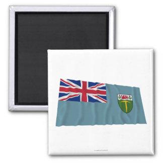 El agitar de la bandera de Rhodesia (1964-1968) Imán Cuadrado