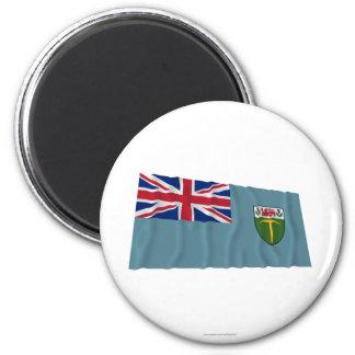 El agitar de la bandera de Rhodesia (1964-1968) Imán Redondo 5 Cm