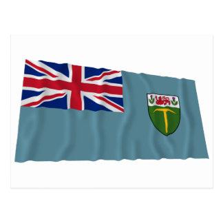 El agitar de la bandera de Rhodesia (1964-1968) Tarjetas Postales