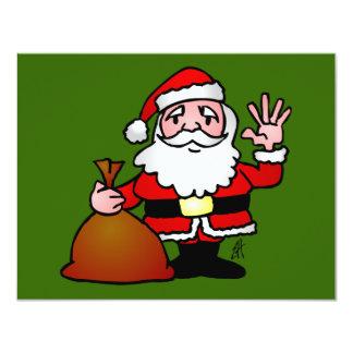 """El agitar de Papá Noel Invitación 4.25"""" X 5.5"""""""