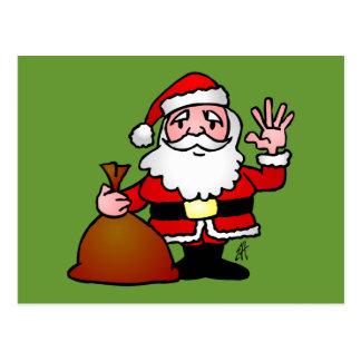 El agitar de Papá Noel Postales