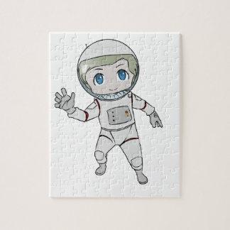 El agitar del astronauta del dibujo animado puzzles