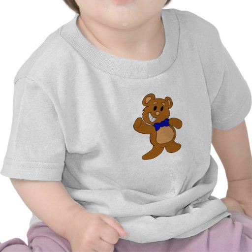 El agitar del oso de peluche camisetas