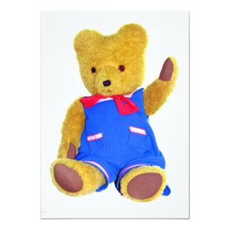 """El agitar del oso de peluche invitación 5"""" x 7"""""""