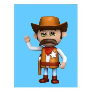 el agitar del vaquero 3d cualquier color U tiene Postales