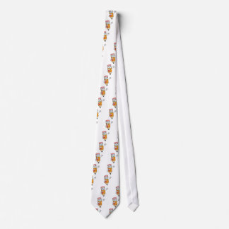 El agitar feliz del lápiz corbata