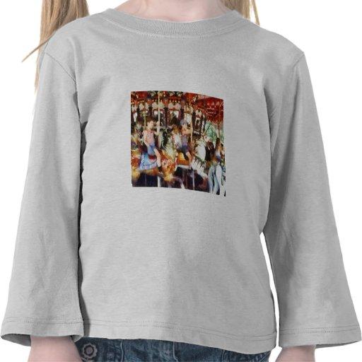 El agitar hola del tiovivo camiseta