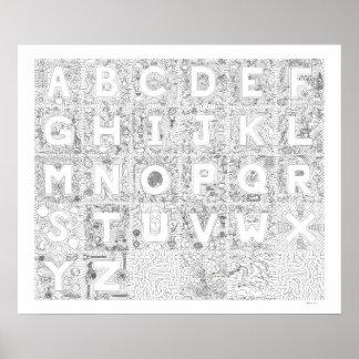 El agrupar del arte del alfabeto de la Alfa-BeConn Poster