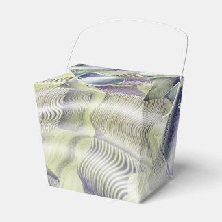 El agua abstracta ondula la caja del favor caja para regalos