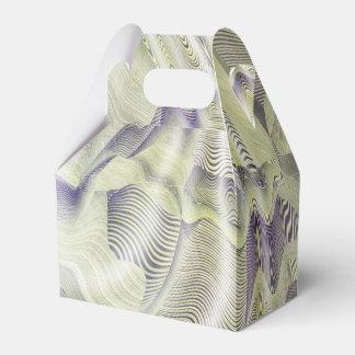 El agua abstracta ondula la caja del favor cajas para detalles de boda