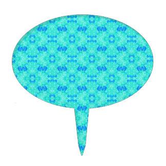 El agua azul abstracta de la acuarela del trullo decoraciones para tartas