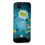 El agua cae el caso de Rupydetequila iPhone 4 Protectores