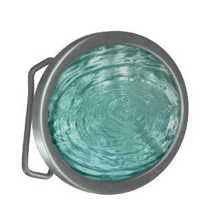 El agua cae la hebilla del cinturón de las ondulac hebilla de cinturon oval