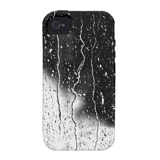 El agua cae las tejas finas cristalinas Beautif Vibe iPhone 4 Carcasa