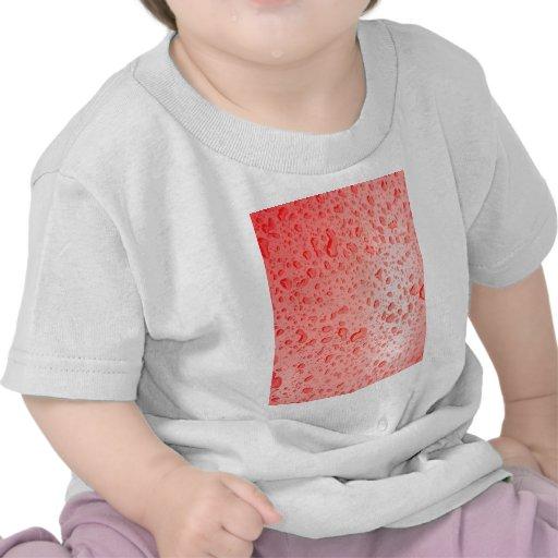 El agua cae las tejas finas cristalinas Beautif Camiseta