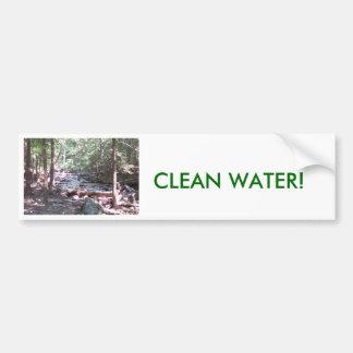 ¡El agua de Claean es inestimable! Pegatina De Parachoque