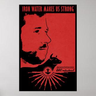 El agua del hierro nos hace fuertes póster