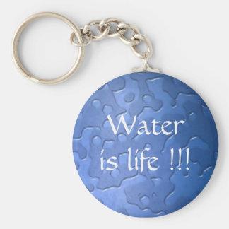 el agua es azul del llavero de la vida
